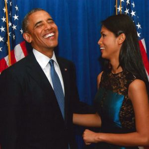 President Obama and Geena Rocero
